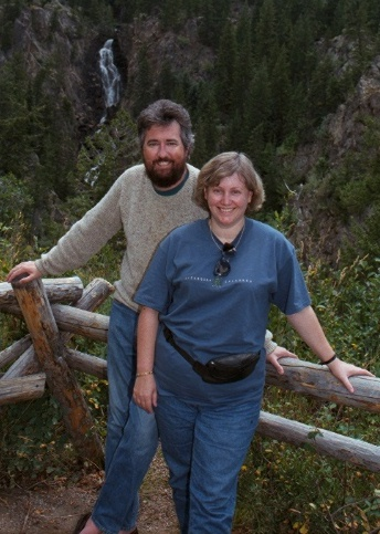 Photo of Todd and Sharon Peach; taken at Steamboat Springs, Colorado